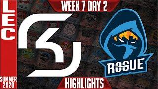 SK vs RGE Highlights | LEC Summer 2020 W7D2 | SK Gaming vs Rogue