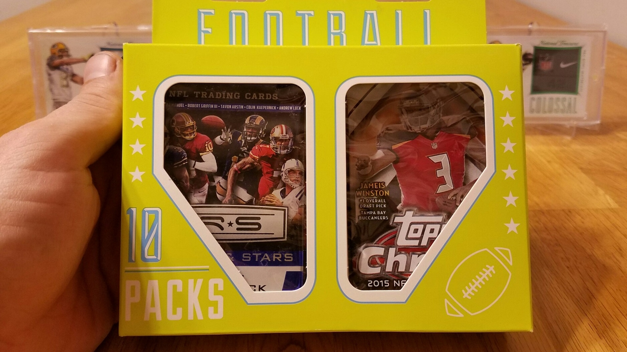 12 Target Football Card Box Fairfield Company 10 Pack Repack