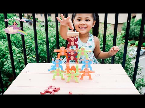 Pippa is playing Monkeys Stacking Game! Watch her until the end! 🐵🙈🙉🙊 |
