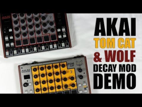 Akai rhythm WOLF / tom CAT DECAY MOD DEMO