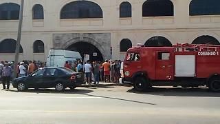 Incendio en los almacenes de San José en el puerto habanero
