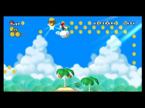 New Super Mario Bros Wii Star Coin Location Guide World 4 5
