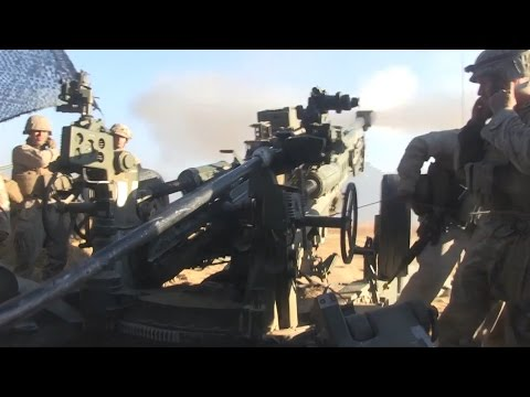 Marines Train With M1122 Artillery Round