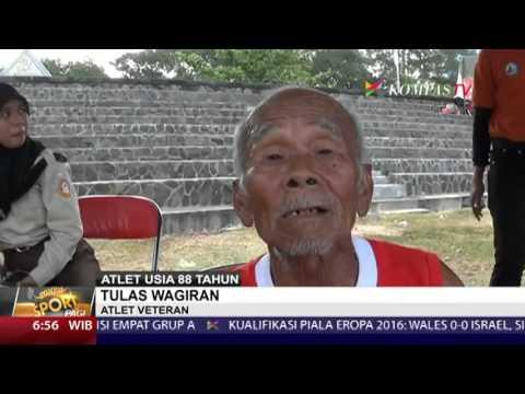 Kakek 88 Tahun Ikut Lomba Lari di Solo