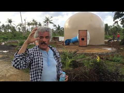 Ecoshell dome in mercedes guiuan philippines