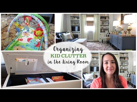Organizing Kid Clutter in the Living Room