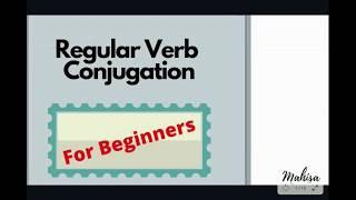 Regular Verb Conjugation |Learn French|