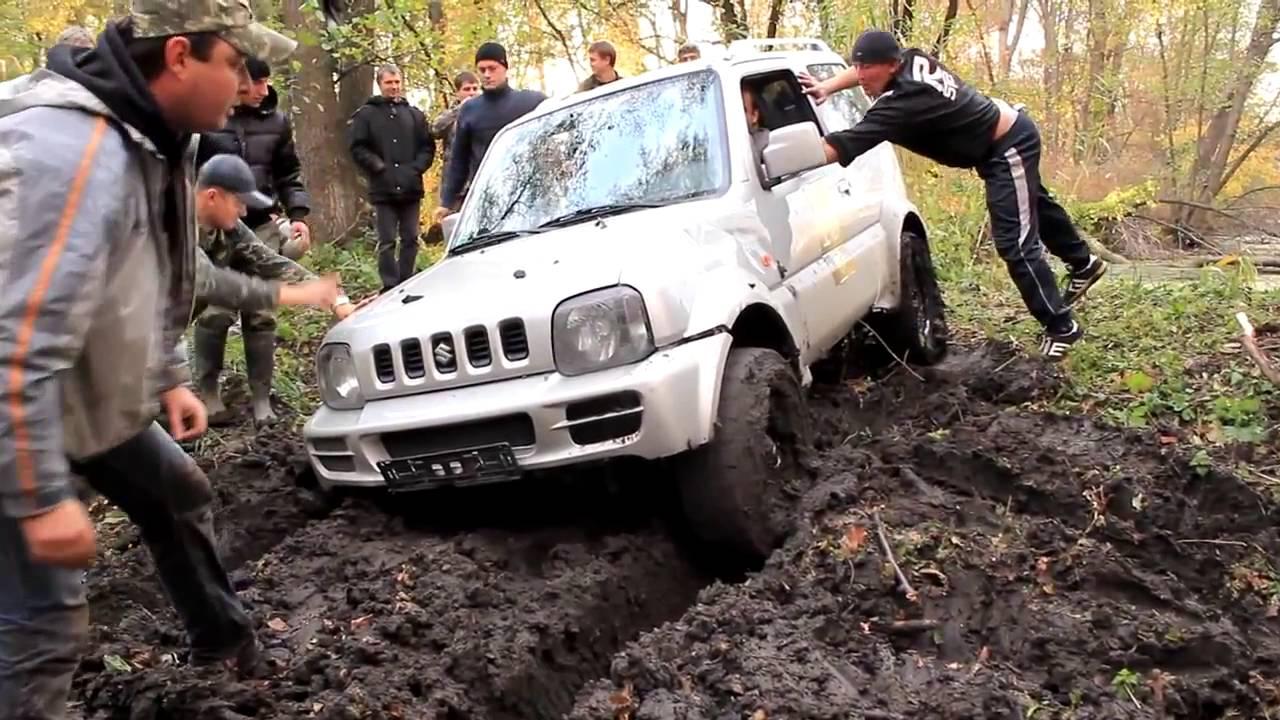 Уаз vs suzuki jimny vs isuzu trooper off roading 4х4 - youtube