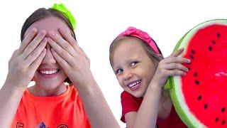 Ку Ку Детская Песенка - Алекс и Настя играют в прятки пикабу