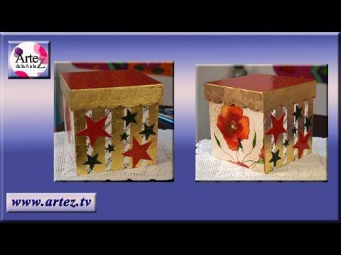 Caja decorada con motivos navide os by artez tv - Cajas con motivos navidenos ...
