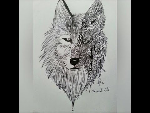StepByStep How To Draw Realisticdoodle Wolf Really