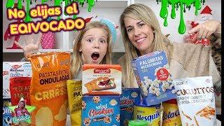 NO ELIJAS EL SNACK EQUIVOCADO SLIME!! Don't Choose the wrong Snack Slime Challenge