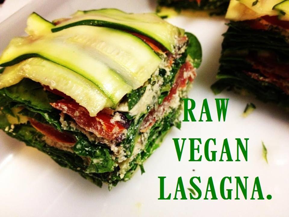 Gourmet RAW VEGAN LASAGNA Recipe! - YouTube