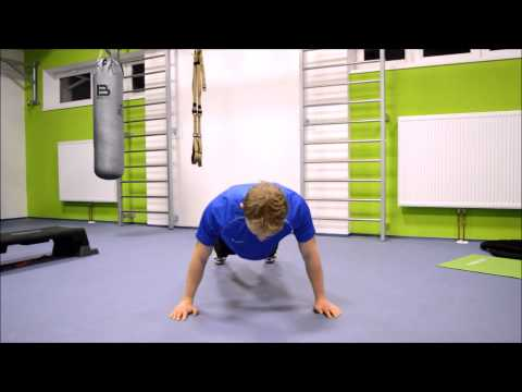 Posilování prsní svaly a ramena - klik