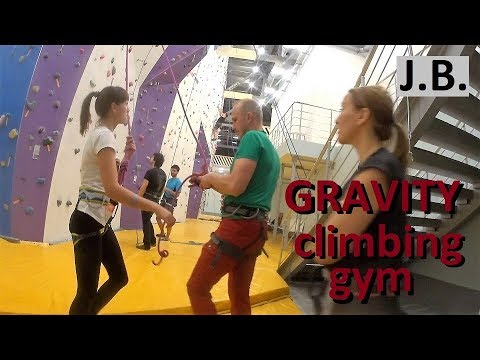 Girls climb first time. Gravity Gym. Moscow