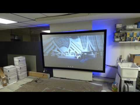OUR NEW FIX FRAME SCREEN CRYSTAL EDGE SILVER ULTIMATE 4K CINEMA AVAILABLE 05/12/17