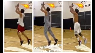 Trae Young knocking down half court shots like it