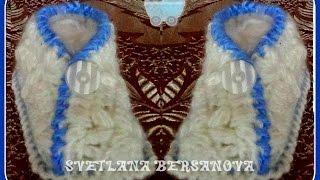 Пинетки-кимоно крючком от Светланы Берсановой. baby's bootees