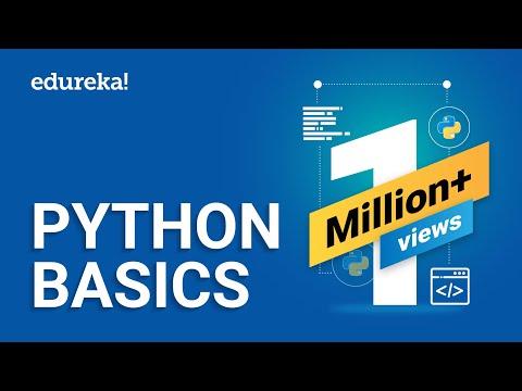 Python Basics | Python Tutorial For Beginners | Learn Python Programming from Scratch | Edureka thumbnail