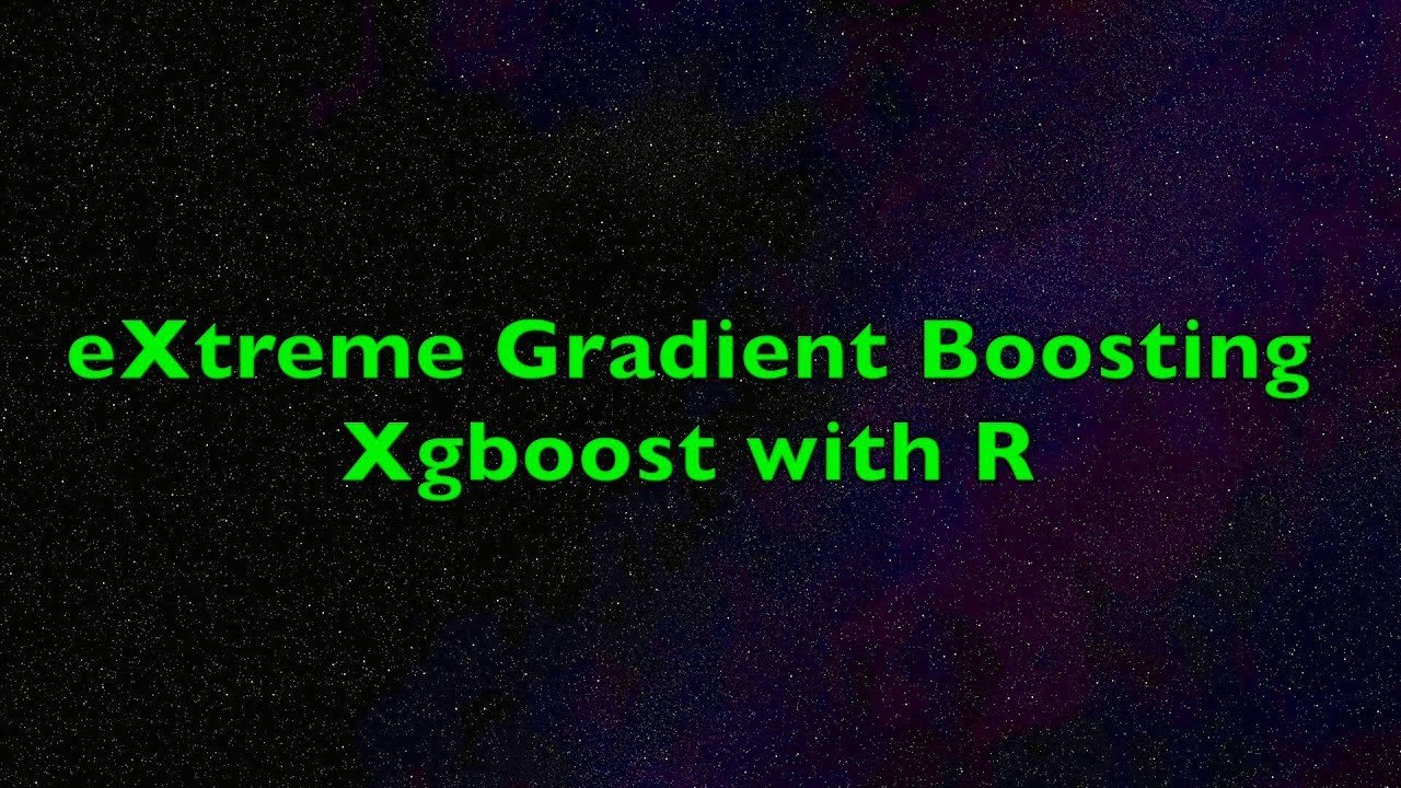 eXtreme Gradient Boosting XGBoost Algorithm with R - Example in Easy Steps  with One-Hot Encoding