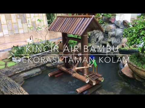Cara Membuat Kincir Air dari Bambu Dekorasi Taman Kolam Minimalis