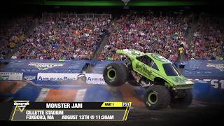 Monster Jam in Foxborough 2017   Sunday August 13th on FS1