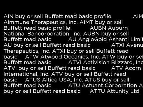 ATW Atwood Oceanics, Inc  ATW buy or sell Buffett read basic