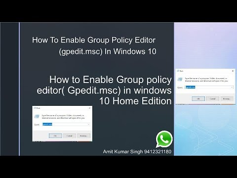 group policy editor (gpedit.msc) for windows 10 home