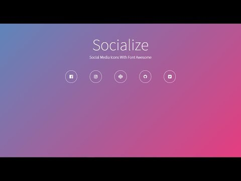 Adding Social Media Icons | HTML & CSS