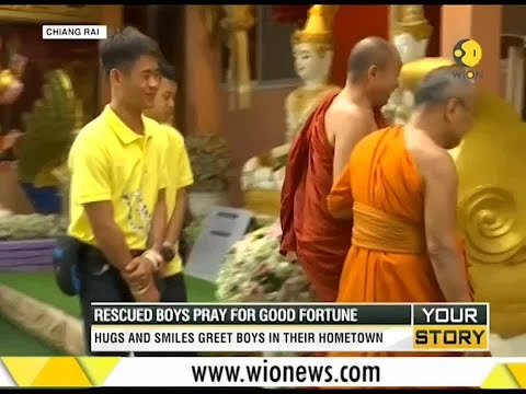 Your Story: Thai boys' temple visit; Rescued boys pray for good fortune from YouTube · Duration:  5 minutes 2 seconds