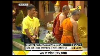 Your Story: Thai boys' temple visit; Rescued boys pray for good fortune