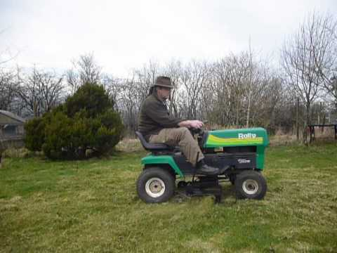 rally roper lawn tractor 12 horsepower 7 speed youtube rh youtube com Rally Push Lawn Mower Parts Rally Roper Lawn Tractor L2500