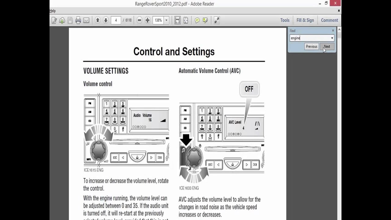 Pdf files – full working facilities Adobe Reader