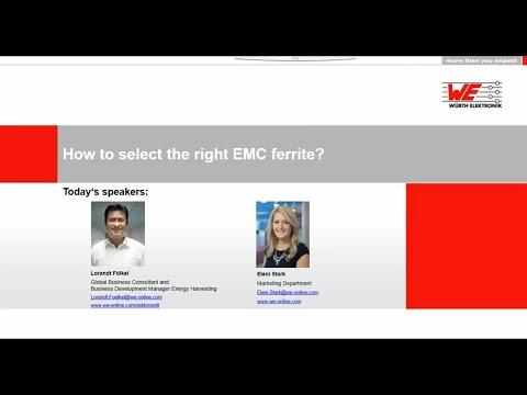 Würth Elektronik Webinars: How to select the right EMC ferrite?
