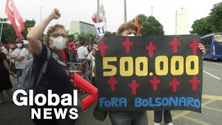 Brazil surpasses 500,000 COVID-19 deaths as people protest in streets