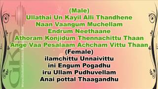 Medhuva Medhuva Oru Kadhal Pattu [For Female - GKS] ( Tamil Video Karaoke ) - HT.wmv