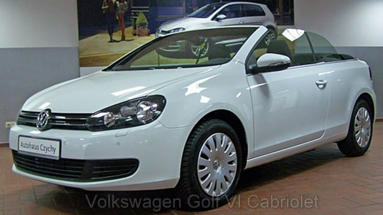 volkswagen golf vi cabriolet 1 2 tsi fk006604 pure white autohaus czychy youtube. Black Bedroom Furniture Sets. Home Design Ideas