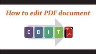 how to edit a pdf document free