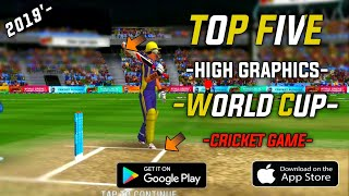 ????Top 5 World Cup 2019 High Graphics Games | Android & iOS |Teg.