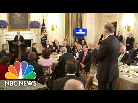 Governor Jay Inslee Confronts President Donald Trump: Our Teachers Don't Want To Be Armed | NBC News