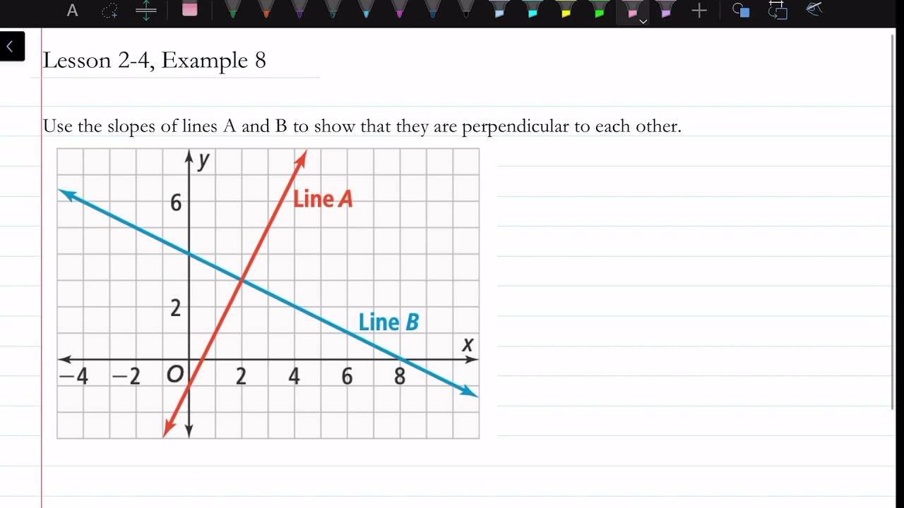 what does it mean when two lines are perpendicular