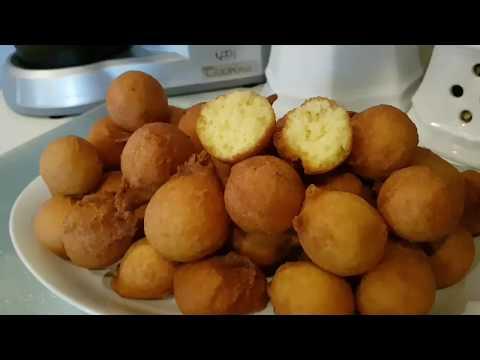 Beignets soufflés à la poudre de noix de coco