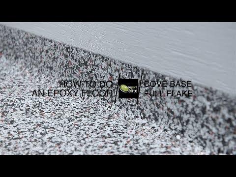 How to do an epoxy floor - Cove base full flake