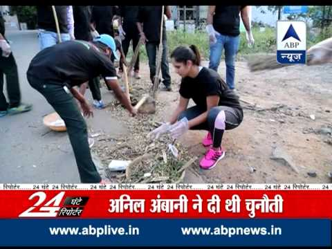 Sania Mirza joins Swatch Bharat campaign, cleans Hyderabad road