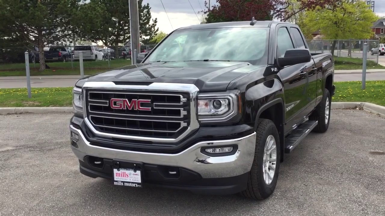 2017 gmc sierra 1500 sle 4wd double cab z71 suspension running boards black oshawa on stock. Black Bedroom Furniture Sets. Home Design Ideas