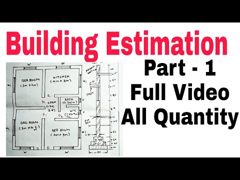 Building Estimation ¦¦ House Estimation part - 1 (2021)