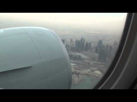 Qatar Airways Flight QR763 - B777-3DZ/ER Takeoff Doha to Montreal CYUL