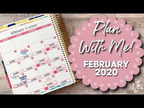PLAN WITH ME! | February 2020 | Erin Condren Life Planner
