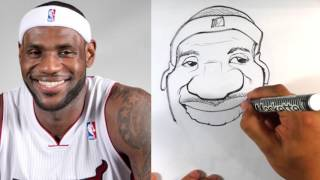 How to Caricature LeBron James - Easy Pictures to Draw