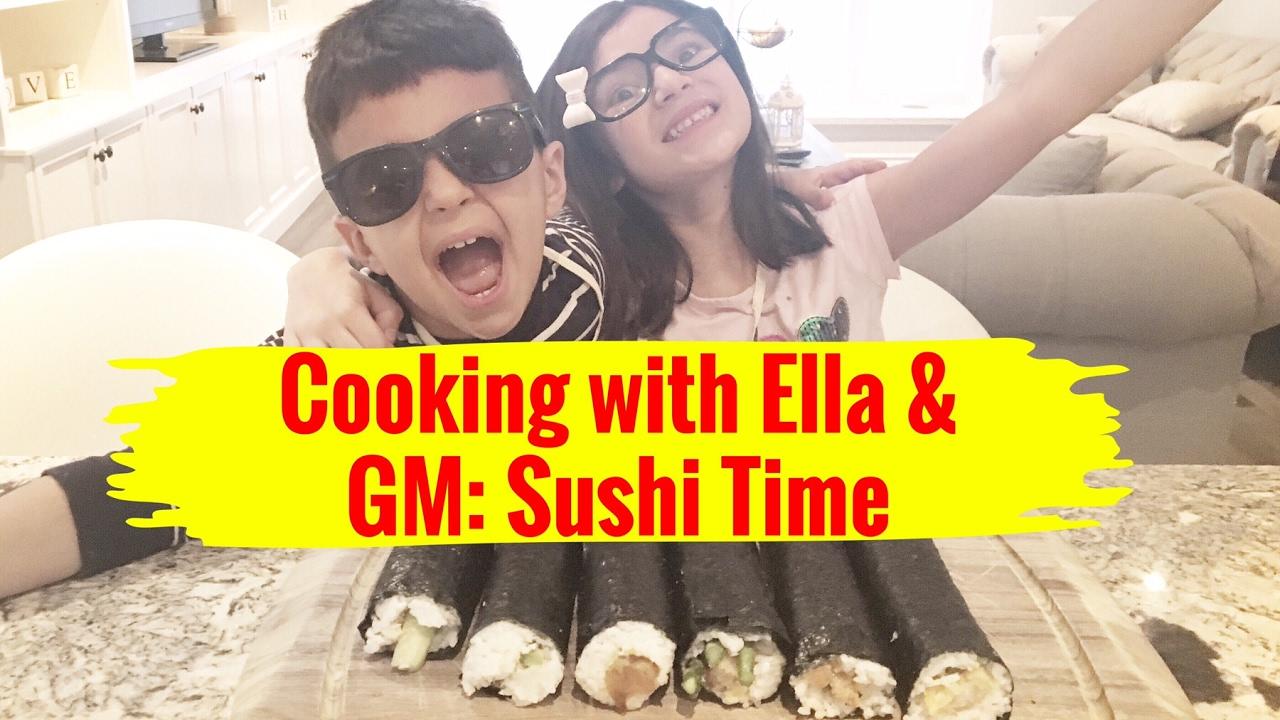 Ella & GM Making Sushi